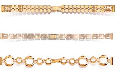 Купить золотой браслет для часов женский в спб