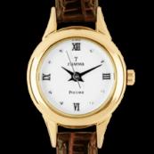 Купить круглые золотые часы женские