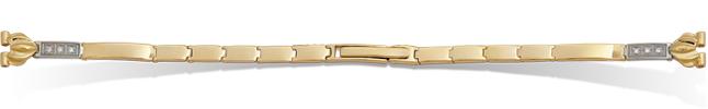 Браслет золотой к женским часам с одной дужкой