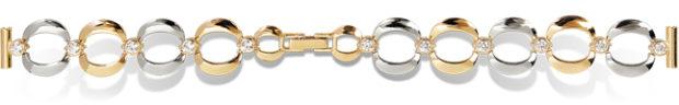 Золотой красивый браслет для часов