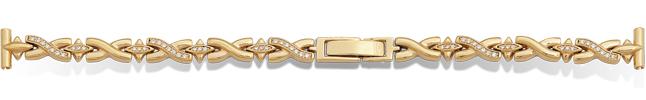 Золотые браслеты для часов Ника женские