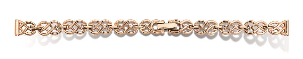женский золотой браслет к часам