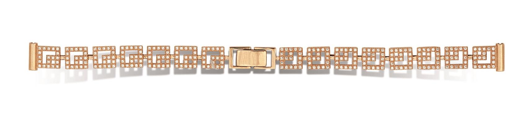 Золотой браслет для женских часов