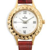 Золотые часы с золотым браслетом женские купить