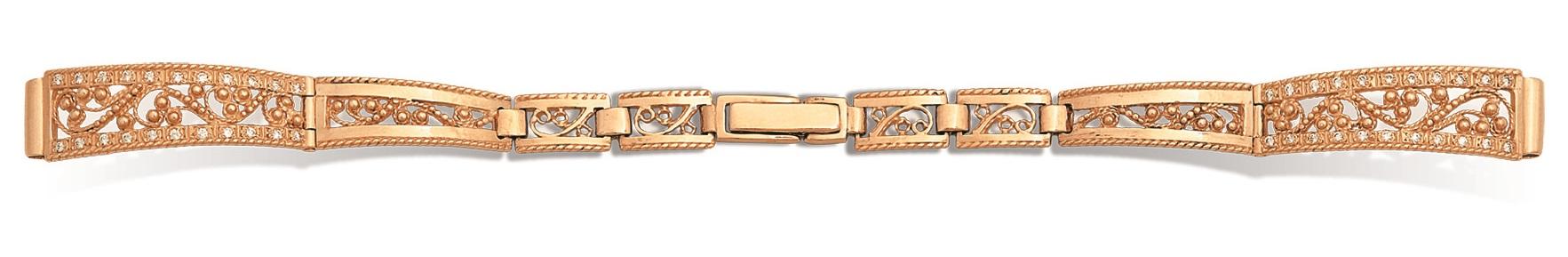 Часовой браслет из золота