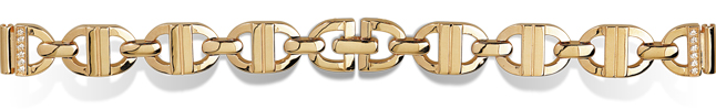 Золотой браслет для женских часов. Цена