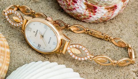 b5abe9f0c08e Женские золотые часы на золотом браслете  каталог, цены, фото ...