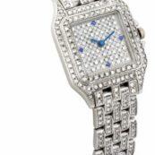 Женские золотые часы с бриллиантами на браслете