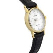 Золотые женские часы на ремешке Фея овальные желтое золото
