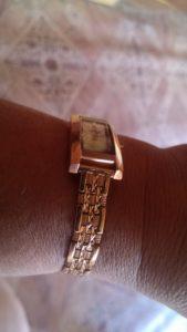 купить золотой браслет к часам Ника