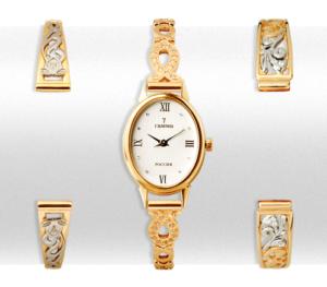 Золотые часы на браслете