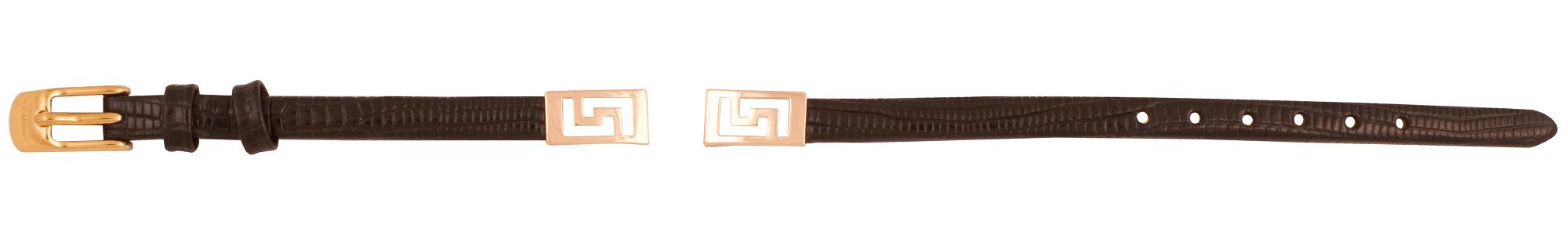 Кожаный ремешок с фрагментом браслета